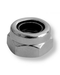 M5  Hexagon  Nyloc Nut A4 Stainless Steel (316)  DIN 985  Type T