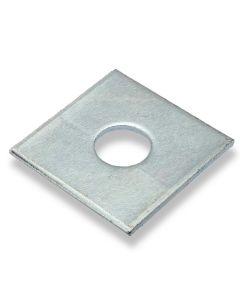 M10  x 40mm  x   3mm   Square Plate Washers  Zinc  DIN 436