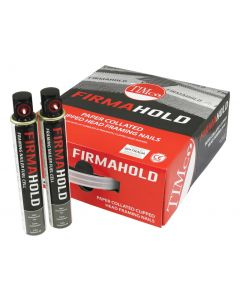 FirmaHold Collated Clipped Head Nails & Fuel Cells - Plain Shank - 3.1 x 90/2CFC - Galvanised