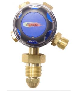 WeldGas Single Stage Plugged Oxygen Regulator 4 Bar
