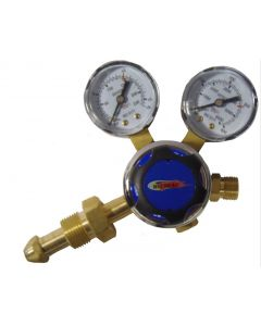 WeldGas Single Stage 2 Gauges Oxygen Regulator 10 Bar, Side Entry
