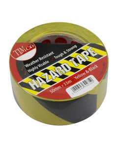 TIMco Hazard Tape – Yellow & Black – 33m x 50m