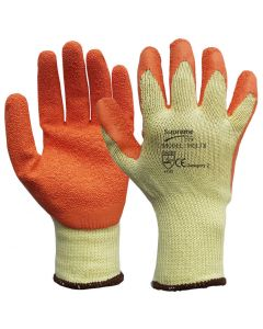 HQLTX Latex Coated Grip and Grab Work Gloves – Size 9 / Size L (Pack of 12)