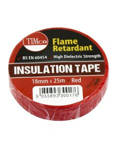 TimCo PVC Insulation Tape – Red – 25m x 18mm