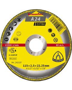 KLINGSPOR 115MM X 2.5MM X 22.23MM METAL CUTTING DISCS