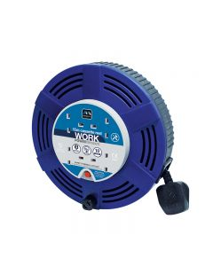 MASTERPLUG 4 GANG 15M BLUE CASSETTE CABLE REEL