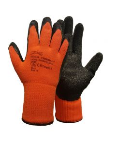 Orange HI VIZ Thermal 7 Gloves Size XL – Size 10
