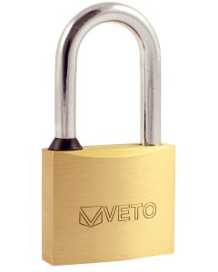 Veto Brass Padlock - 50mm - Long Shackle