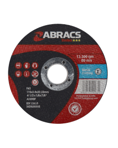 Abracs Proflex 115mm x 3mm x 22mm FM Metal Cutting Disc
