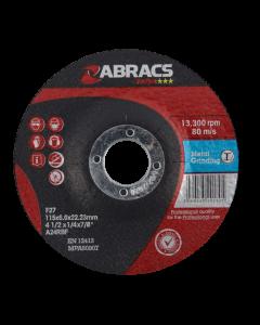Abracs Proflex 115mm x 6mm x 22mm DPC Metal Grinding Disc