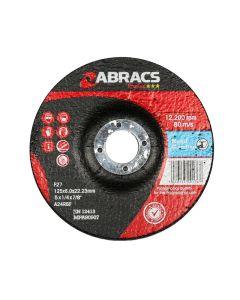 Abracs Proflex 125mm x 6mm x 22mm DPC Metal Grinding Disc