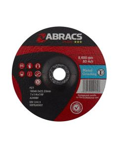Abracs Proflex 178mm x 6mm x 22mm DPC Metal Grinding Disc