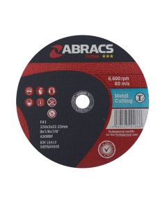 Abracs Proflex 230mm x 3mm x 22mm Flat Metal Cutting Disc