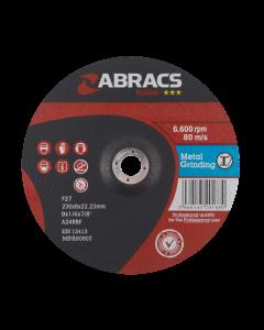 Abracs Proflex 230mm x 6mm x 22mm DPC Metal Grinding Disc