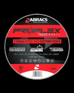 Abracs Proflex Extra Thin Cutting Disc 115mm x 1.0mm INOX. Tin of 10 FES logo discs.