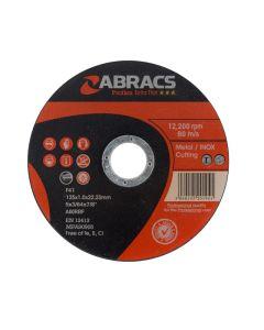 Abracs Proflex Extra Thin Cutting Disc 125mm x 1.0mm INOX.