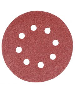 Addax Random Orbital Sanding Discs - 125mm - 80 Grit - Medium - Pack Of 5