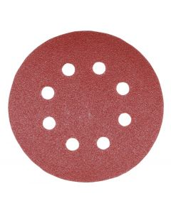 Addax Random Orbital Sanding Discs - 125mm -  80/120/180 Grit - Assorted - Pack Of 5