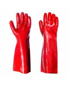 Red PVC Long Arm Heavy Duty Gauntlet