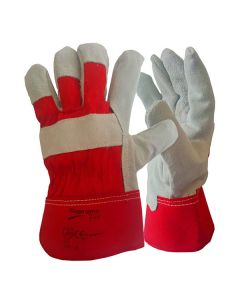 Red Canadian Leather Rigger Gloves Size XL – Size 10