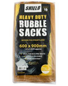 Shield Heavy Duty Rubble Sacks - 600 x 900mm