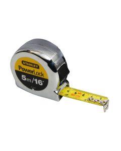 STANLEY PowerLock Classic Pocket Tape 5m/16ft (Width 19mm) STA033553