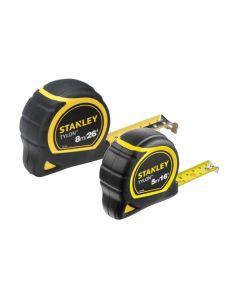 STANLEY Tylon™ Pocket Tapes 5m/16ft + 8m/26ft (Twin Pack) STA998985