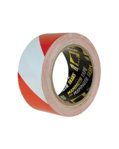 PVC HAZARD RED AND WHITE ADHESIVE