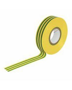 TimCo PVC Insulation Tape – Yellow & Green Stripe – 25m x 18mm