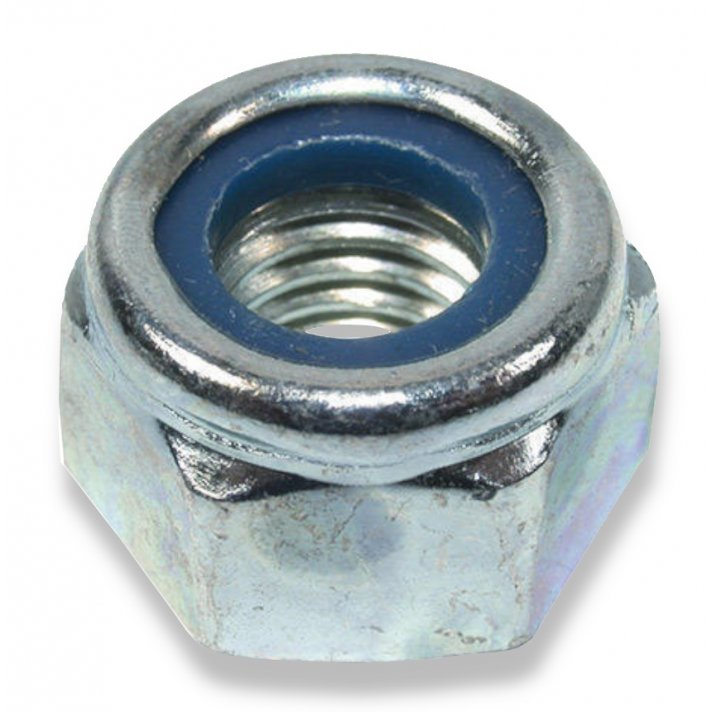 Din 985 Type T Gr 10  Zinc Nyloc Nut